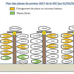 Plan des pontons 2017 (au 19/04/2017)