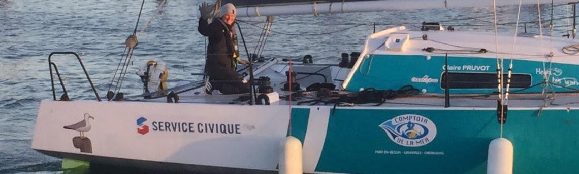 Le bateau de Claire Service Civique est reparti : direction la Guadeloupe !